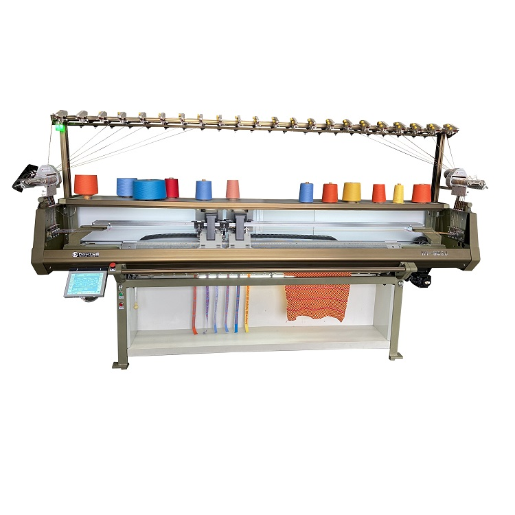 1+1 system Fully jacquard collar knitting machine